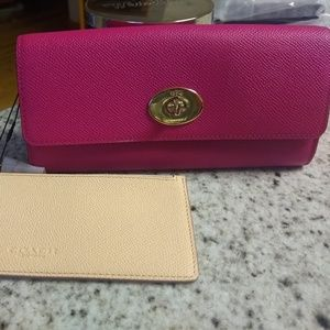 BNWT COACH Slim Envelope Wallet w/ POP Pouch